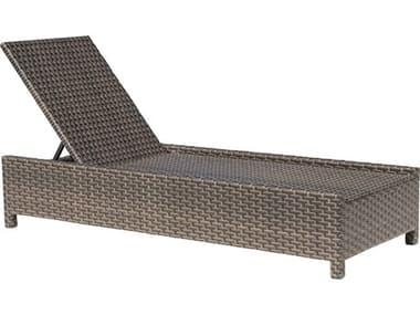 Hospitality Rattan Outdoor Fiji Dark Brown Wicker Chaise Lounge HP9011348ATQCL