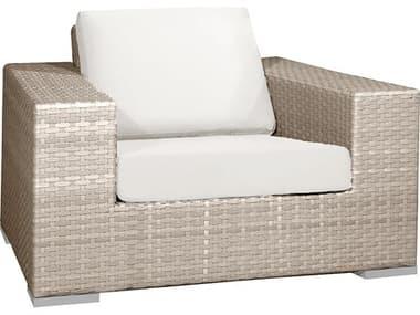 Hospitality Rattan Outdoor Rubix Kubu Wash Wicker Lounge Chair with Cushions HP9021349KBULC