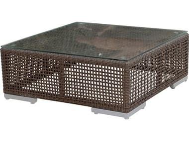 Hospitality Rattan Outdoor Soho Wicker 30 Square Coffee Table HP9031321JBPCTGL