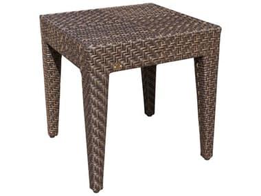 Hospitality Rattan Outdoor Soho Wicker 19 Square End Table HP9031323JBPET