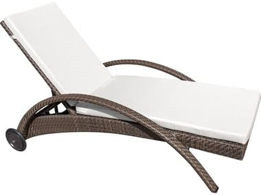 Hospitality Rattan Outdoor Soho Wicker Chaise Lounge with Wheels HP9031324JBP