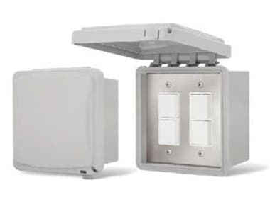 Infratech Surface Mount Duplex Switches Weather Proof Cover For Exposed Exterior Areas - Dual IF144325