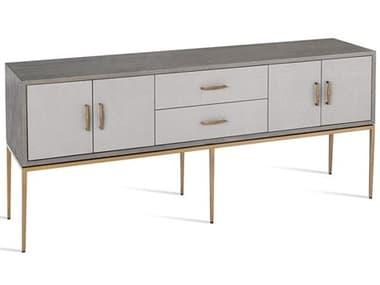 Interlude Home Grey Wash Oak/ Light Grey/ Antique Brass Buffet IL139022