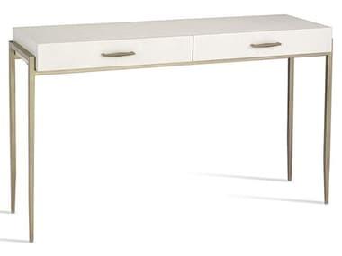 Interlude Home Natural White/ Champagne Silver Secretary Desk IL188065