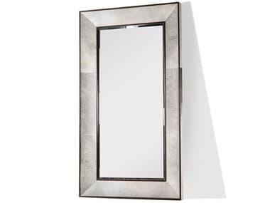 Interlude Home Grey Hide/ Walnut/ Plain Mirror Floor IL318007
