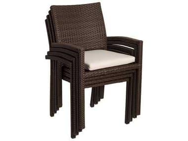 International Home Miami  Atlantic Wicker Liberty Dining Arm Chair (4 Piece Set) IMPLILIBERARM4
