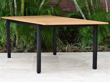 International Home Miami Amazonia Ivy Aluminum Extendable Rectangular Dining Table IMSCIBISRECTLOTBLK