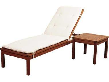 International Home Miami Amazonia Washburn 2 Piece Lounge Set with White Cushions IMSCWASHBURNKINGSIDE
