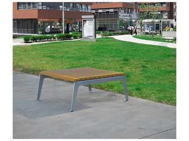 Frog Furnishings Plaza Steel 48''W x 41''D Rectangular Coffee Table JHPB42PLZTB