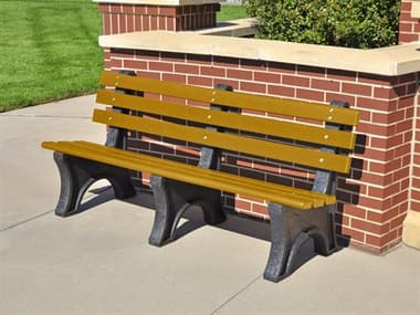 Frog Furnishings Central Park Recycled Plastic 6 ft. Bench JHPB6CPE