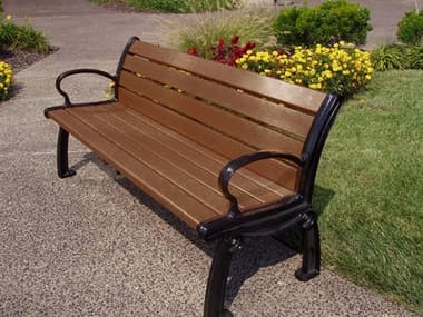 Frog Furnishings Heritage Cast Aluminum 6 ft. Bench JHPB6HER