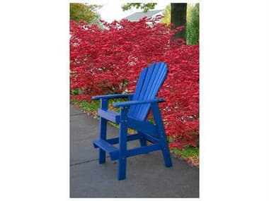 Frog Furnishings Adirondack Recycled Plastic Clearwater Counter Chair JHPBADCLR