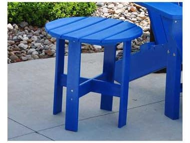 Frog Furnishings Adirondack Recycled Plastic Traditional 18'' Wide Round End Table JHPBADTRAST