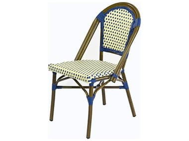 Schnupp Patio Cafe St. Tropez Aluminum Side Chair with Blue Dots JV08STSCL
