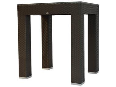 Schnupp Patio Venice Wicker Aluminum Small 40''W x 34''D Rectangular Glass Top Bar Table JV14S