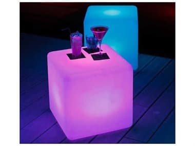 Schnupp Patio Outdoor Led Light 16''W x 16''D Cube with Remote JV60Q