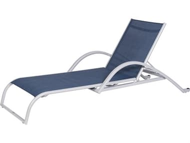 Schnupp Patio Mesh Aluminum Silver Chaise Lounge JV66