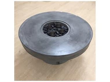 Feruci Concrete 36'' Wide Round Fire Pit Table JVF59RO