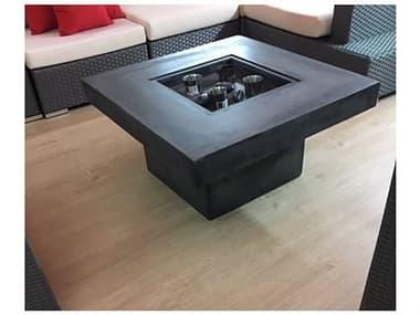 Feruci Concrete 35'' Wide Square Fire Pit Table JVF59SQ