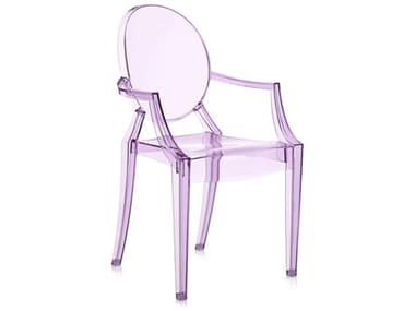 Kartell Outdoor Lou Violet Resin Dining Chair KAO2852Y3