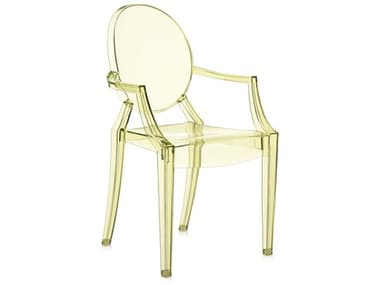 Kartell Outdoor Lou Yellow Resin Dining Chair KAO2853Y1