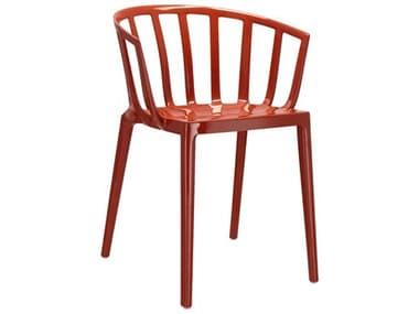 Kartell Outdoor Venice Rust Orange Resin Dining Chair KAO580615