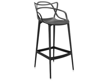 Kartell Outdoor Masters Opaque Black Resin Bar Stool KAO586809