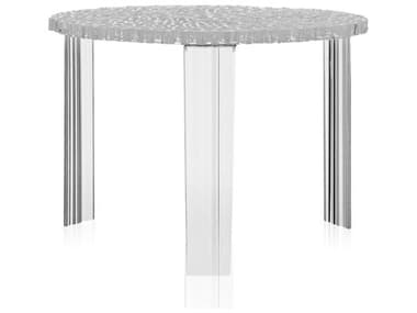 Kartell Outdoor T-table Transparent Crystal Resin Round Coffee Table KAO8501B4