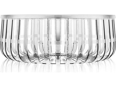 Kartell Outdoor Panier Transparent Crystal Resin Round Coffee Table KAO8860B4