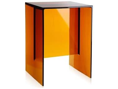 Kartell Max-Beam Transparent Amber 13''L x 11''W Rectangular End Table KAR9900AM