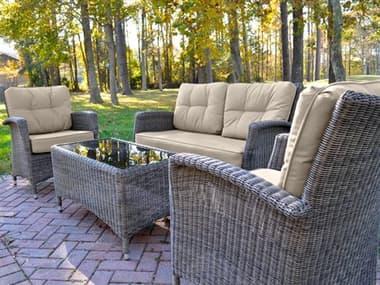 Kettler Lakena Wicker Cushion Lounge Set in Canvas Coal KR3044302000K1CA