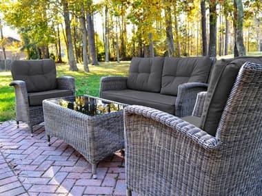 Kettler Lakena Wicker Cushion Lounge Set in Canvas Coal KR3044302000K1CC