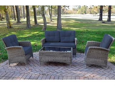 Kettler Lakena Wicker Cushion Lounge Set in Spectrum Indigo KR3044302000K1SI