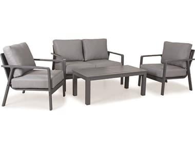 Kettler Paros Aluminum Charcoal Lounge Set in Cast Slate KR3921090200SL