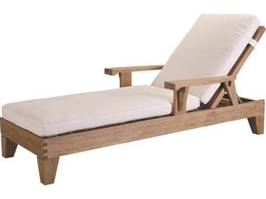 Lane Venture Saranac Natural Teak Adjustable Lounge Chaise LAV37640
