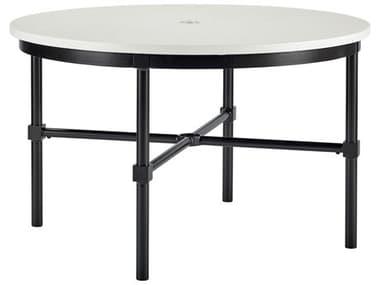 Lane Venture Langham Dark Bronze Aluminium 48'' Wide Round Dining Table with Umbrella Hole LAV920348