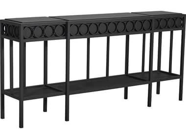 Lane Venture Winterthur Obsidian Black Aluminum 72''W x 15''D Rectangular Console Table LAV923167