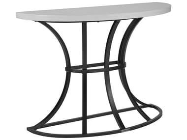 Lane Venture Calistoga Dark Bronze Aluminum 46''W x 18''D Demi-Lune Console Table LAV924167
