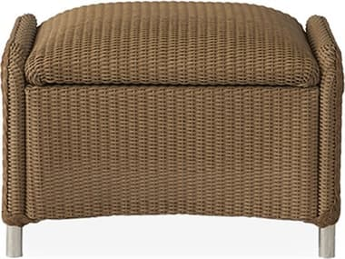 Lloyd Flanders Reflections Wicker Ottoman with Padded Seat LF109017