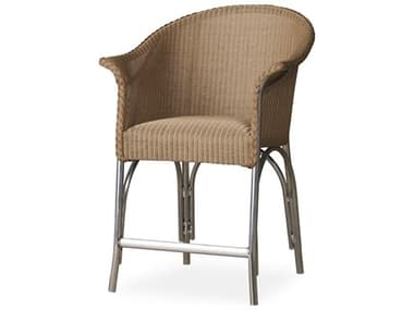 Lloyd Flanders All Seasons Wicker Counter Stool with Padded Seat LF124307