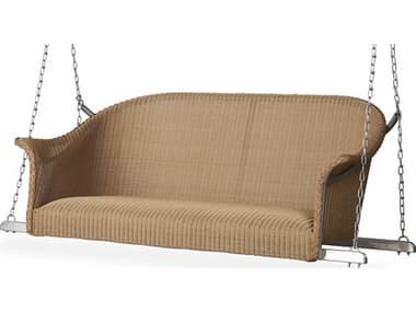 Lloyd Flanders All Seasons Wicker Loveseat Swing with Padded Seat LF124319