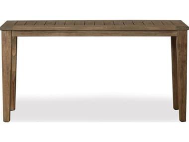 Lloyd Flanders Wildwood Teak 57''W x 20''D Rectangular Tapered Leg Console Table LF135049