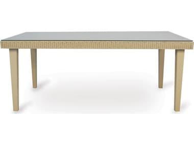 Lloyd Flanders Hamptons Wicker 72''W x 42''D Rectangular Dining Table LF15972