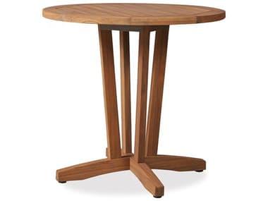 Lloyd Flanders Teak 30'' Wide Round Bistro Table LF286136