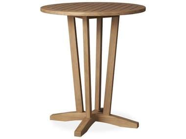 Lloyd Flanders Teak Antique Gray 30'' Round Bar Table LF286340