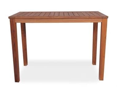 Lloyd Flanders Teak 57''W x 41''D Rectangular Tapered Leg Bar Table LF286456