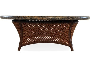 Lloyd Flanders Grand Traverse Wicker 48'' Wide Round Stone Top Chat Table LF71941