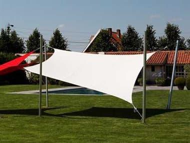 Luxury Umbrellas Ingenua 13 Foot Square Anodized Aluminum Shade Sail Patio Umbrella LMINKITS40