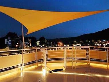 Luxury Umbrellas Ingenua 16'5  Triangular Anodized Aluminum Shade Sail Patio Umbrella LMINKITT50