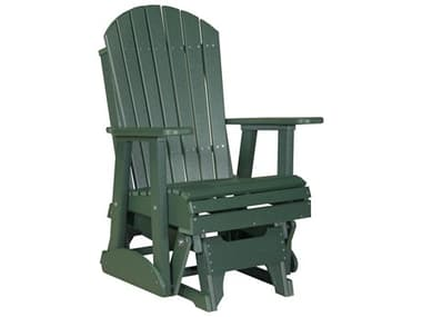 LuxCraft Recycled Plastic 2' Adirondack Glider Chair LUX2APG